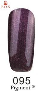 Гель-лак FOX 095 (Темно-фиолетовый с блестками) 6 мл