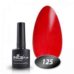 Гель-лак Nice 8.5мл №125 малиново-бордовый