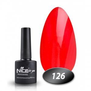 Гель-лак Nice 8.5г №126 терракотово-бордовый