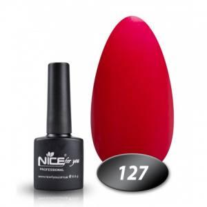 Гель-лак Nice 8.5г №127 малиновый перламутр