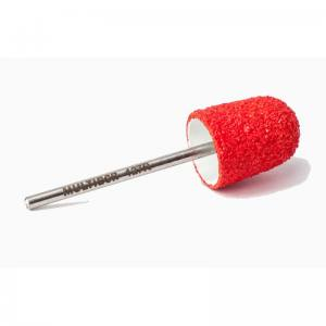 Педикюрная насадка многоразовая Multibor Турбо - Стандар 127R Красный (40 грит)