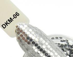 Диско конфетти для дизайна ногтей, голографические, DKM-06 серебро