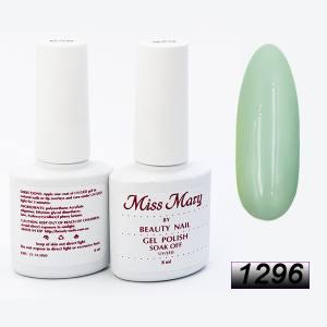 Гель-лак Miss Mary 8ml № 1296 (серовато-зеленый)