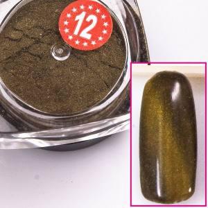 Магнитный пигмент кошачий глаз  Beauty nail №12 золотой