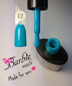 Гель-лак Barbie Nails №12 голубой яркий
