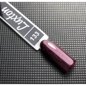 Гель лак LUXTON 10 мл №133 вишневый микроблеск