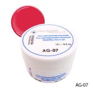 Гель моделирующий вишневый Lady Victory AG-07 14г