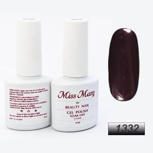 Гель-лак Miss Mary 8ml № 1332 (баклажанный с микроблеском)