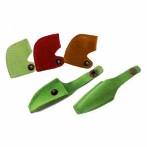 Кожаный чехол для профессиональных кусачек ЧМ-03 на кнопке