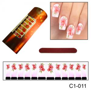 Фотодизайн для ногтей С1-011 цветы