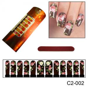 Фотодизайн для ногтей С2-002 Розовый букет