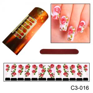 Фотодизайн для ногтей 3-016 Узор из цветов