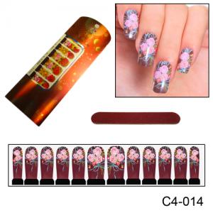 Фотодизайн для ногтей С4-14 розовый букет