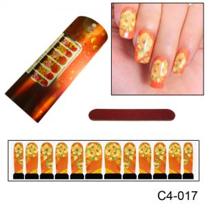 Фотодизайн для ногтей С4-017 оранжевый цветок