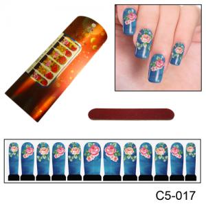 Фотодизайн для ногтей С5-017 роза с лепестками