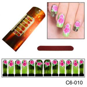 Фотодизайн для ногтей С6-010 розовый цветок