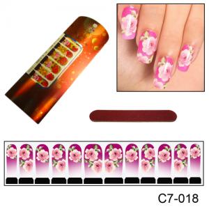 Фотодизайн для ногтей С7-018 шикарные розы