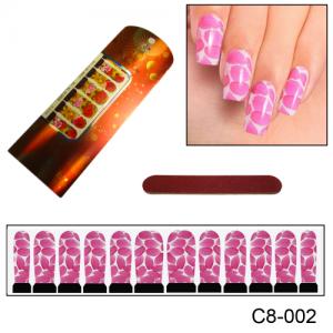 Фотодизайн для ногтей С8-02 лепестки роз