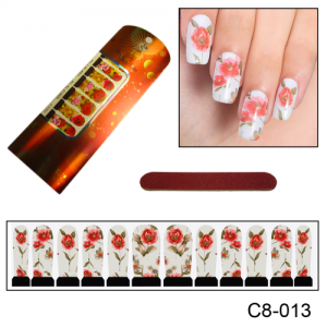 Фотодизайн для ногтей С8-13 яркие цветы