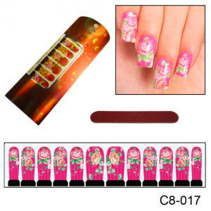 Фотодизайн для ногтей С8-17 яркие розы