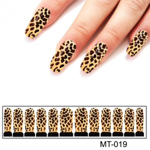 Фотодизайн для ногтей МТ-19 леопардовый стиль