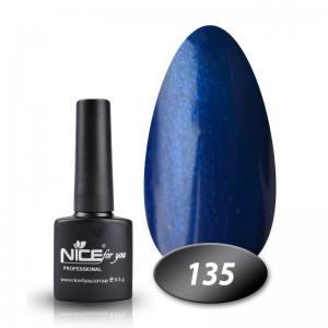 Гель-лак Nice 8.5г №135 васильковый микроблеск