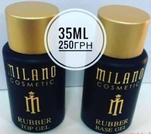 Топ каучуковый для гель-лака без липкого слоя MILANO Rubber Top Gel, 35 мл
