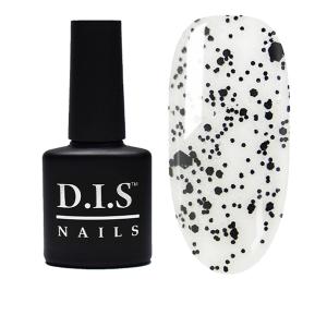 Топ без липкого слоя с черными хлопьями D.I.S Nails Universal Top Flake № 02 7.5мл