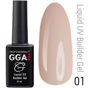 Жидкий гель GGA Professional № 01, кремовый 15мл