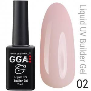 Жидкий гель GGA Professional № 02, светло-розовый 15мл