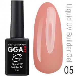 Жидкий гель GGA Professional № 05, персиковый 15мл
