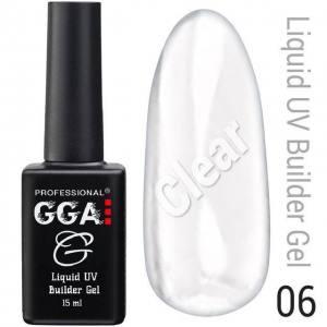 Жидкий гель GGA Professional № 06, прозрачный 15мл