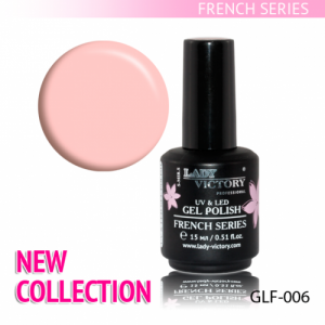 Гель-лак серии French Lady Victory 15мл №6 натуральный розовый