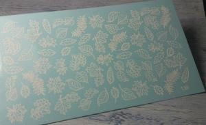 Фольгированный слайдер 138 белый