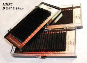 Ресницы I-Beauty D-0.07 микс 8-14мм