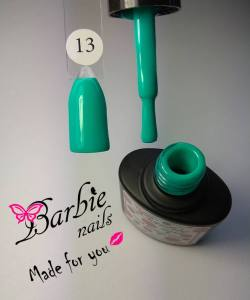 Гель-лак Barbie Nails №13 зеленая  бирюза