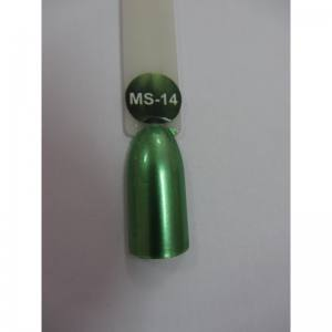 Гель-лак металлик Nice MS-01 №14 зеленый