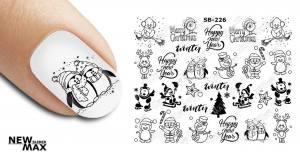 Слайдер-дизайн для ногтей New Max SB-226