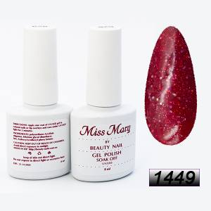 Гель-лак Miss Mary 8ml № 1449 ( красный фиолет )