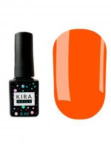 Гель-лак Kira Nails №145 (оранжево-красный, эмаль), 6 мл