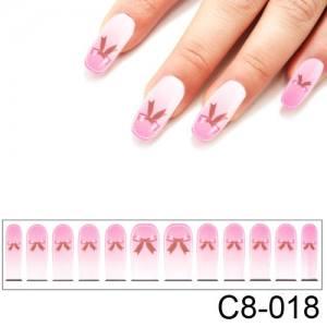 Фотодизайн для ногтей С8-018 розовый бантик