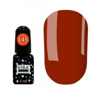 Гель-лак Kira Nails Mini №145 (оранжево-красный, эмаль), 1 мл