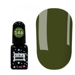 Гель-лак Kira Nails Mini №146 (оливковый, эмаль), 1 мл