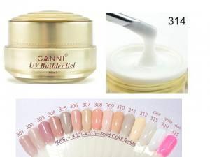 Гель для ногтей Canni UV Builder Gel White №314
