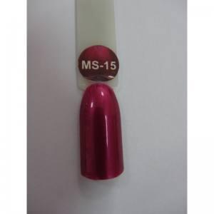 Гель-лак металлик Nice MS-01 №15 розовый