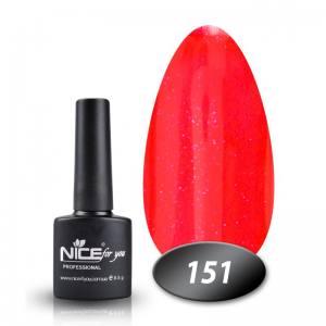 Гель-лак Nice 8.5g №151 морковно-коралловый