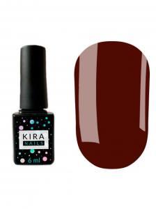 Гель-лак Kira Nails №154 (темно-коричневый, эмаль), 6 мл