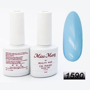 Гель-лак Miss Mary 8ml № 1590 (теплый голубой)
