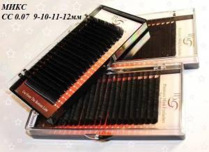 Ресницы I-Beauty CС-0.07 микс 9-10-11-12мм