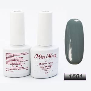 Гель-лак Miss Mary 8ml № 1601 ( бутылочно-серый )